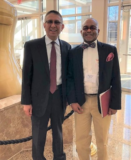 Dr. Mohammed Abdullah Saud Alessia, Cultural Attache, Saudi Arabian Cultural Mission with Dr Lowe Educational Consultant Admissions Advisor
