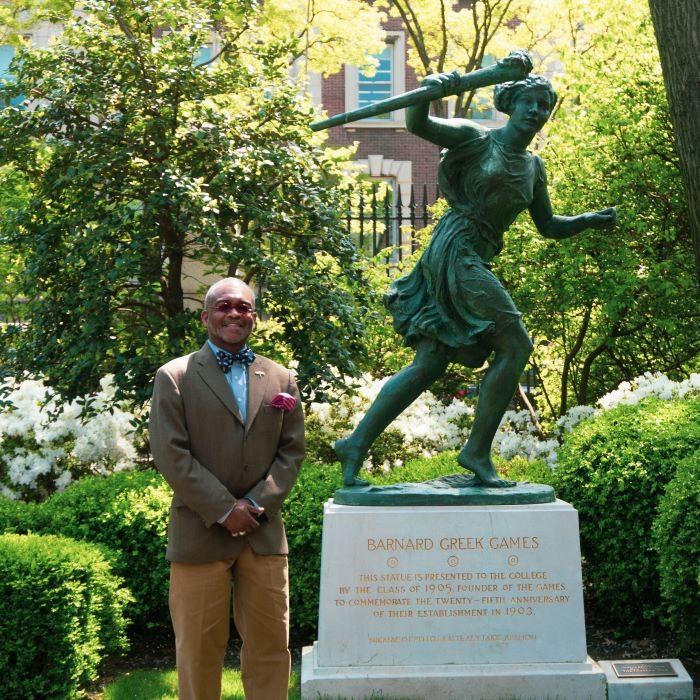 Dr_Lowe_Barnard_College_Greek_Games_Statue