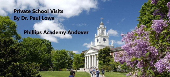 Dr Lowe Visits Phillips Academy Andover
