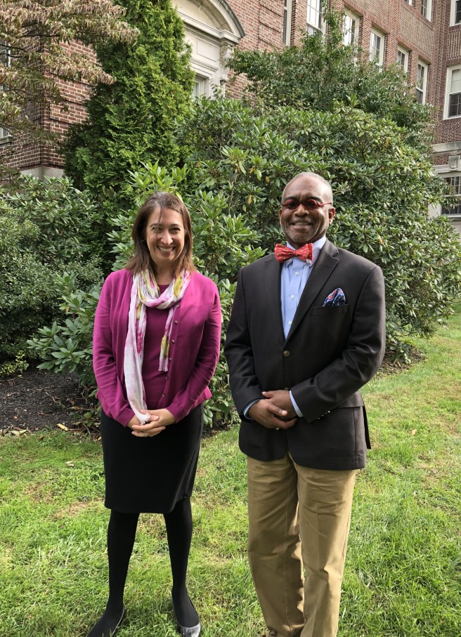 Dr Paul Lowe at Peddie with Hannah McCollum, Associate Dir. of Admission